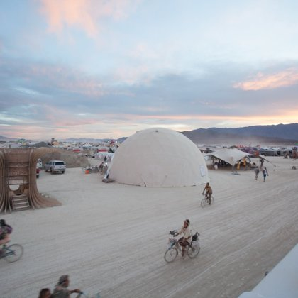 The film screened in the I.M.E dome at Burningman in 2016.