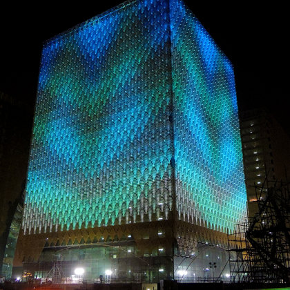 A tower with lighting design on-site in Saudi Arabia. (Photo: StandardVision)