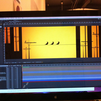 Behind the scenes look at the animation project.